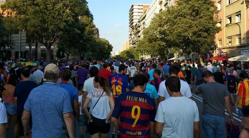 רחובות ברצלונה ביום המשחק