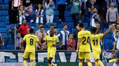 שחקני ויאראיל חוגגים את השוויון (La Liga)
