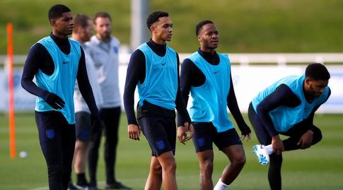 שחקני נבחרת אנגליה באימון (רויטרס)