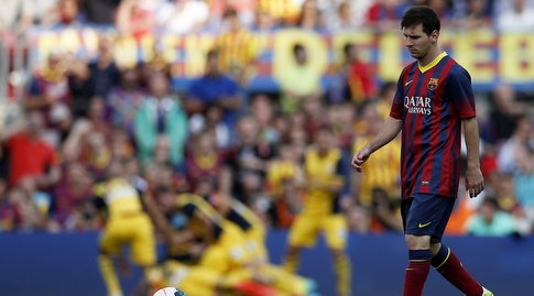 ליאו מסי מול אתלטיקו מדריד ב-2013/14 (רויטרס)