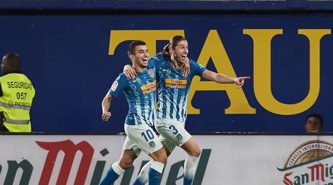 פיליפה לואיס ואנחל קוראה חוגגים (La Liga)