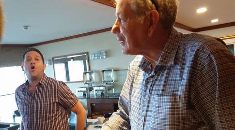 יואב כץ ואורן שטרלינג במלון קראון פלאזה (דורון בן דור)