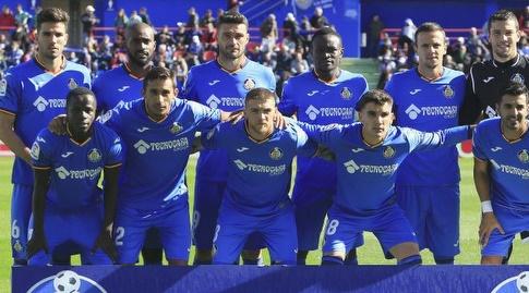 שחקני חטאפה לפני פתיחת המשחק (La Liga)
