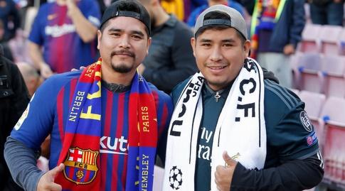 אוהד ריאל מדריד ואוהד ברצלונה מחכים לקלאסיקו (La Liga)