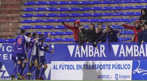 שחקני אברו חוגגים (La Liga)