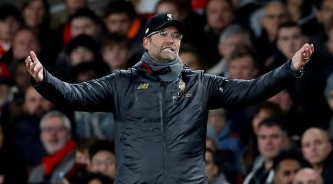 יורגן קלופ. עם הכדורגל שליברפול מציגה העונה, לא נראה שיפוטר בקרוב (רויטרס)