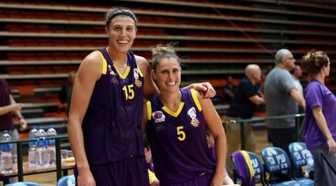 לימור פלד וג'ורדן הופר (צילומים: אודי ציטיאט, באדיבות מנהלת ליגת העל לנשים בכדורסל)