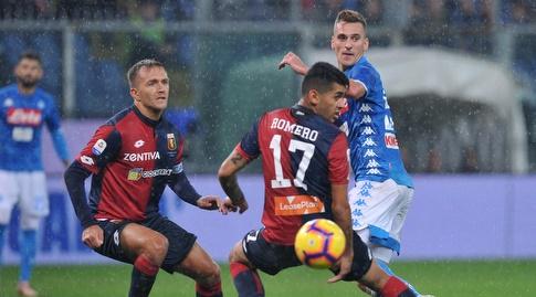 כריסטיאן גבריאל רומרו משקיף על הכדור (רויטרס)