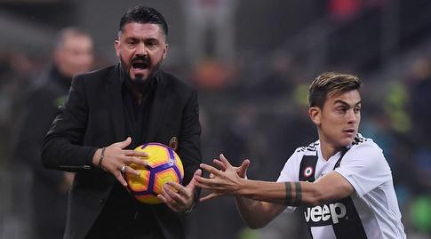 ג'נארו גאטוסו לא נותן את הכדור לפאולו דיבאלה (רויטרס)