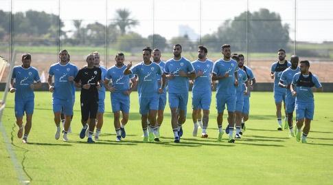 שחקני נבחרת ישראל באימון (חגי מיכאלי)