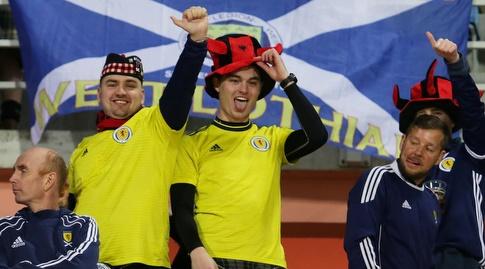 אוהדי נבחרת סקוטלנד חוגגים (רויטרס)
