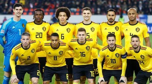 שחקני נבחרת בלגיה (רויטרס)
