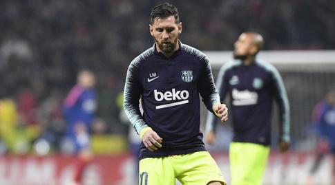 ליאו מסי בחימום (La Liga)