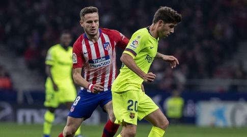 סרג'י רוברטו וסאול נלחמים על הכדור (La Liga)