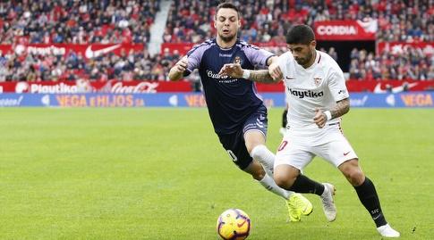 אבר באנגה מנסה לשמור על הכדור (La Liga)