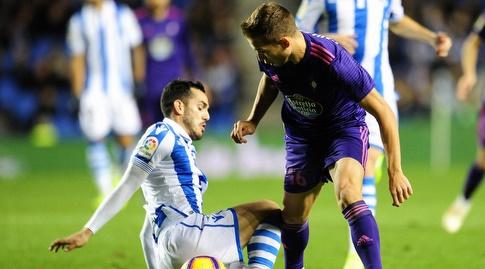 אנדרו יולסאגר נלחם על הכדור (La Liga)