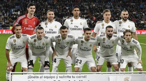 שחקני ריאל מדריד לפני המשחק (La Liga)