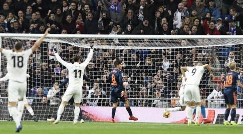 ריאל מדריד עולה ליתרון מול ולנסיה (La Liga)