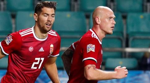 בוטונד בראת' (מימין) במדי נבחרת הונגריה (רויטרס)