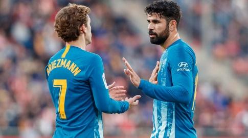דייגו קוסטה ואנטואן גריזמן מדברים (La Liga)