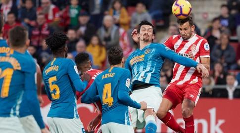 כריסטיאן סטואני נוגח מול סטפן סאביץ' (La Liga)