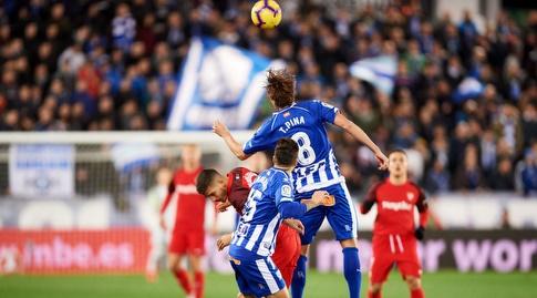 תומאס פינה עולה לנגיחה (La Liga)