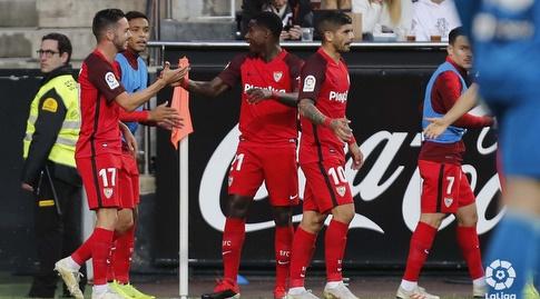 קווינסי פרומס מברך את פאבלו סראביה (La Liga)