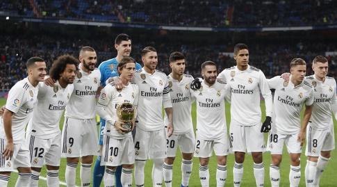שחקני ריאל מדריד מברכים את לוקה מודריץ' (La Liga)