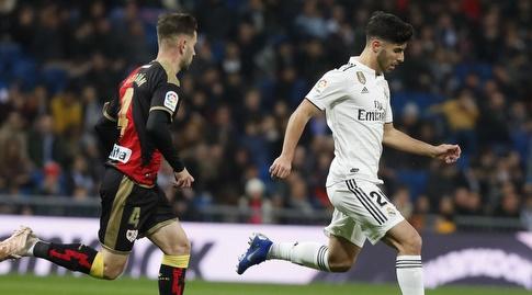 אלברו מדראן רודף אחרי מרקו אסנסיו (La Liga)
