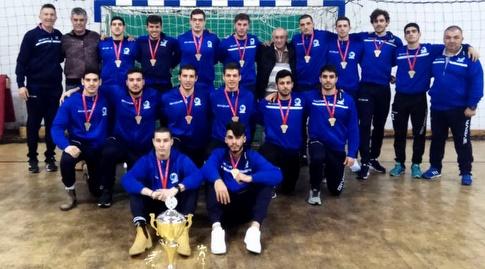 נבחרת הנוער עד גיל 18 שזכתה בטורניר בבוסניה (הדר ואן דולא, איגוד הכדוריד)