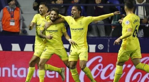 שחקני ג'ירונה חוגגים עם פורטו (La Liga)