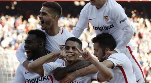 וויסאם בן ידר חוגג עם החברים (La Liga)