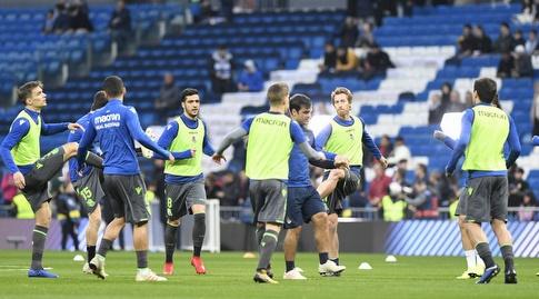 שחקני ריאל סוסיאדד בחימום (La Liga)