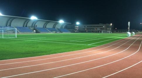 """אצטדיון האתלטיקה החדש בעיר הבה""""דים (באדיבות קריית ההדרכה)"""