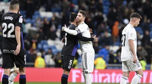 סרחיו ראמוס וג'ונתן סילבה בסיום (La Liga)
