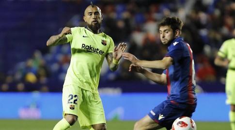 ארתורו וידאל מול סאנין פרצ'יץ' (La Liga)