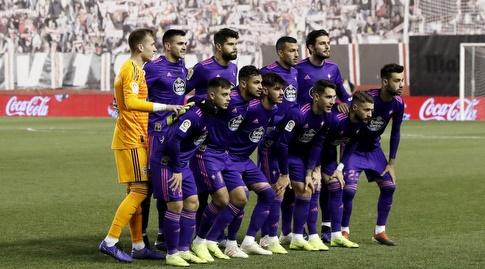 שחקני סלטה ויגו לפני המשחק (La Liga)