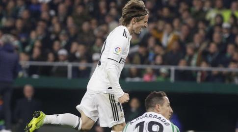 לוקה מודריץ' רגע אחרי השער (La Liga)