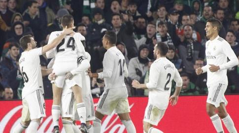שחקני ריאל מדריד חוגגים. הגרלה נוחה (La Liga)