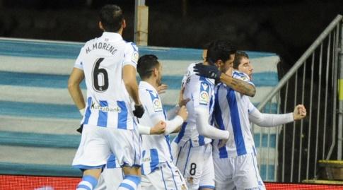 שחקני אספניול חוגגים (La Liga)