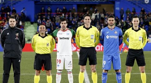 חורחה מולינה ומאנו גארסיה לפני המשחק (La Liga)