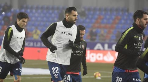 שחקני ווסקה בחימום (La Liga)