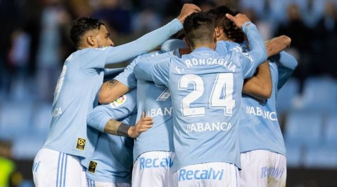 שחקני סלטה ויגו חוגגים. יקוו לשחזר את הניצחון האדיר מהסיבוב הקודם (La Liga)
