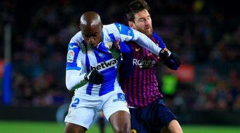 ליאו מסי נלחם על הכדור (La Liga)