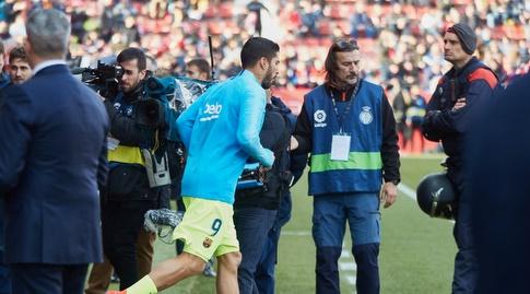 לואיס סוארס עולה למגרש (La Liga)