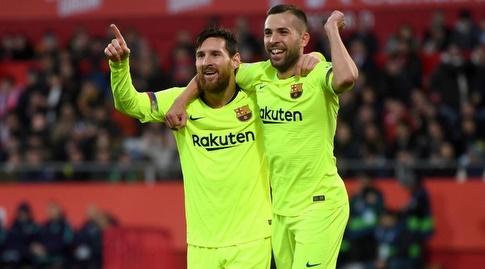 ג'ורדי אלבה עם ליאו מסי (La Liga)