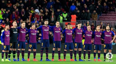 שחקני ברצלונה בפתיחה (La Liga)