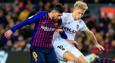 דניאל ואס נאבק עם ליאו מסי (La Liga)