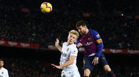 ליאו מסי נוגח (La Liga)
