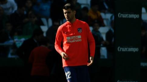 אלברו מוראטה בחימום (La Liga)
